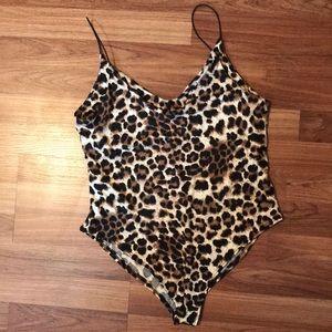 Leopard print bodysuit NWOT
